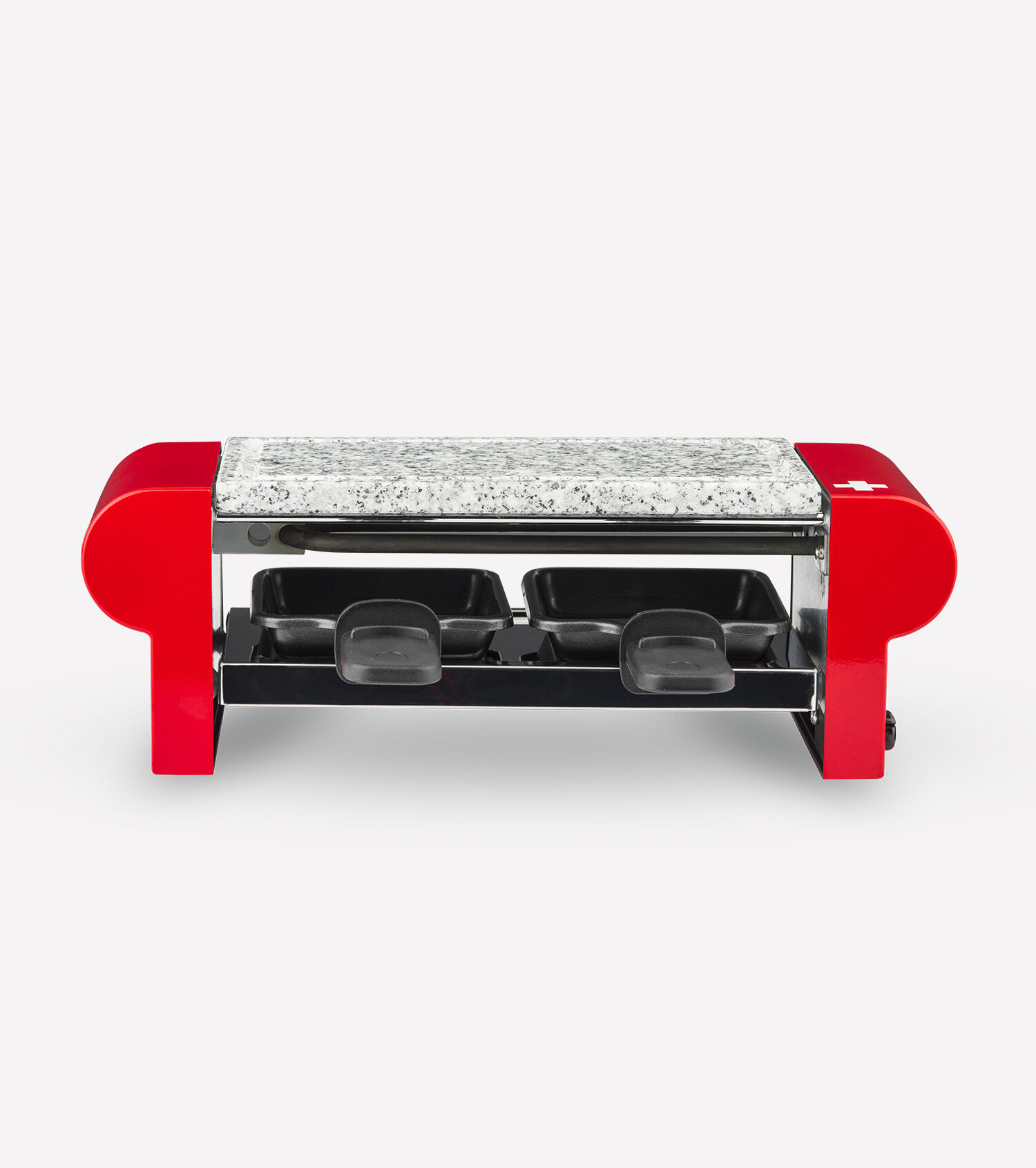 raclette grill 2 persons with granite stone red