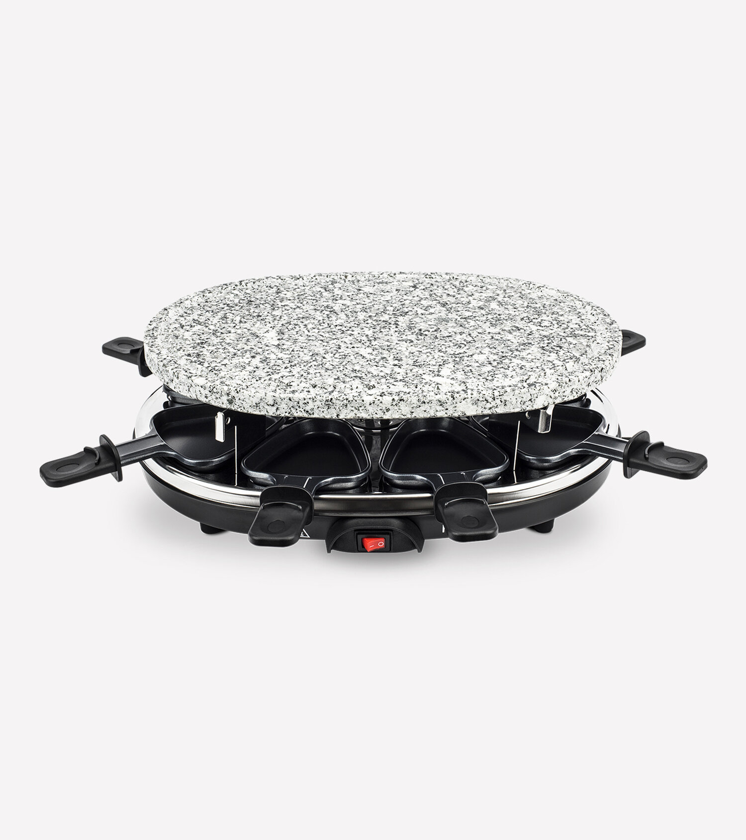 raclette grill 8 persons with granite stone